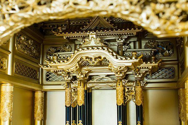 本金粉 本塗 尺8堂造り台付 東本願寺