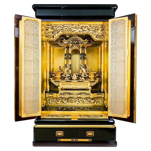本金箔/金粉 本漆 3,2尺 堂造り台付 東本願寺