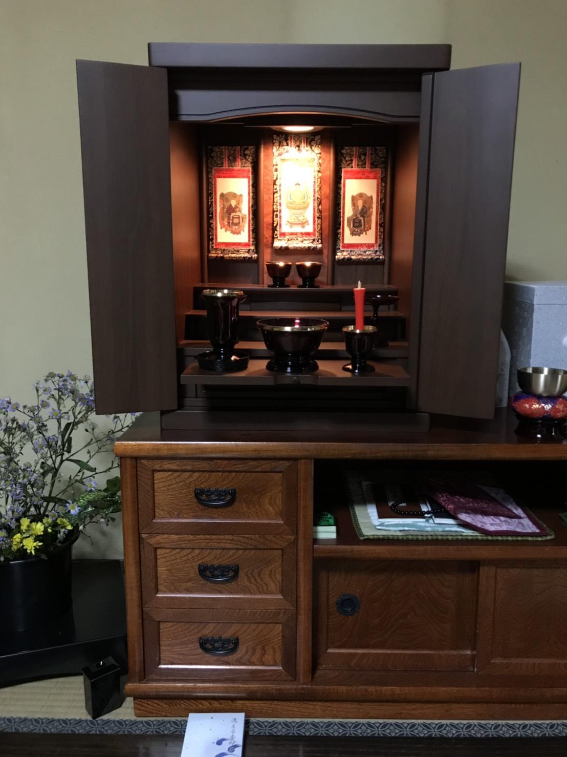 大阪府門真市に上置仏壇(ミニ仏壇)を納品致しました ...